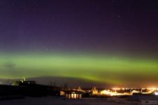 Волшебное зрелище: уральцы весенним вечером наблюдали полярное сияние. ВИДЕО