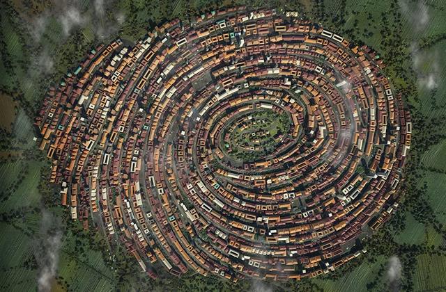 В Германии построили деревню в виде отпечатка пальца