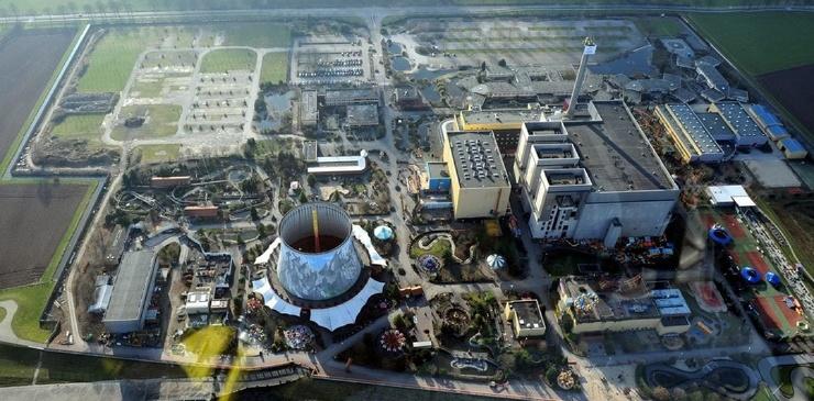 Тематический немецкий парк, построенный внутри ядерного реактора  фото  видео