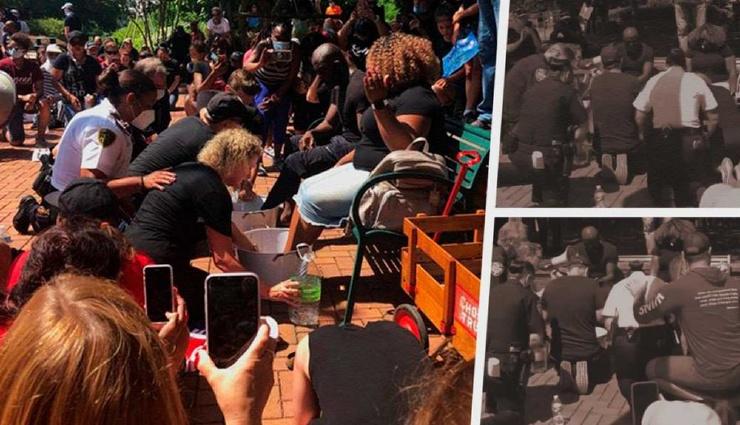 В Северной Каролине полицейские помыли ноги чернокожим американцам