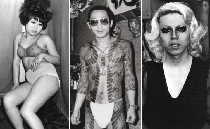 Проститутки, бандиты, трансвеститы винтажные фото токийского квартала красных фонарей Кабуки-тё