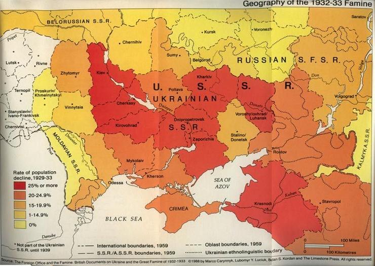 Одна из причин Голодомора 1933 года