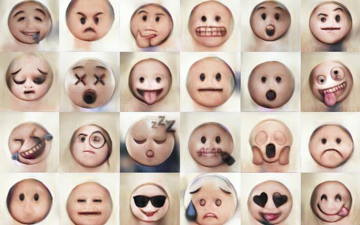 Нейросеть превратила популярные эмодзи в человеческие лица. Получилось довольно жутко