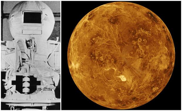 45 лет назад советский космический аппарат Венера-9 приземлился на Венере и сделал ее фотоснимки