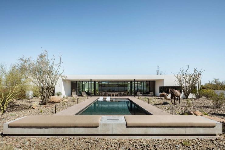 Дом для музыканта с внутренним двориком и бассейном в штате Аризона (34 фото)