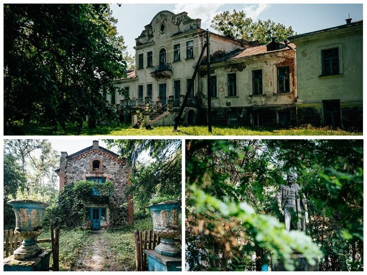 Мистическая Беларусь романтический шляхетский двор в пейзажном парке