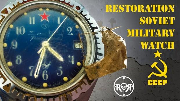 Немецкий мастер умело реставрирует советские командирские часы (завораживающее видео)