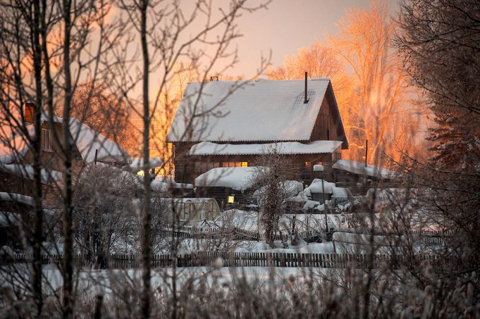 Красивые русские деревни, скрытые в снегу