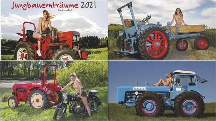 Девушки и сельхозтехника в календаре Jungbauerntrume 2021