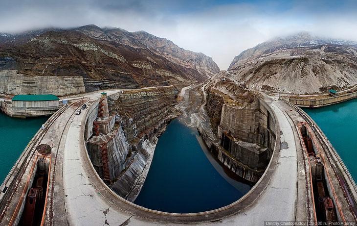 Миатлинская ГЭС на реке Сулак (27 фото)