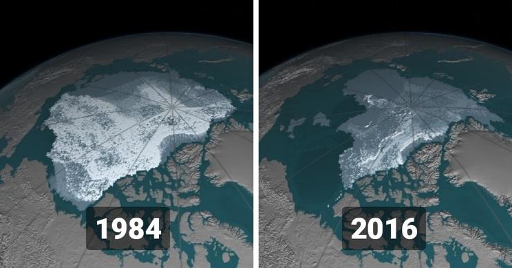 15 снимков со спутников от НАСА, которые показывают, какие изменения происходят на поверхности нашей планеты (15 фото)