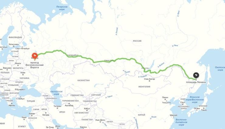 Мужчина заплатил таксисту 250 тыс. руб. за поездку из Москвы в Хабаровск из-за боязни летать на самолете