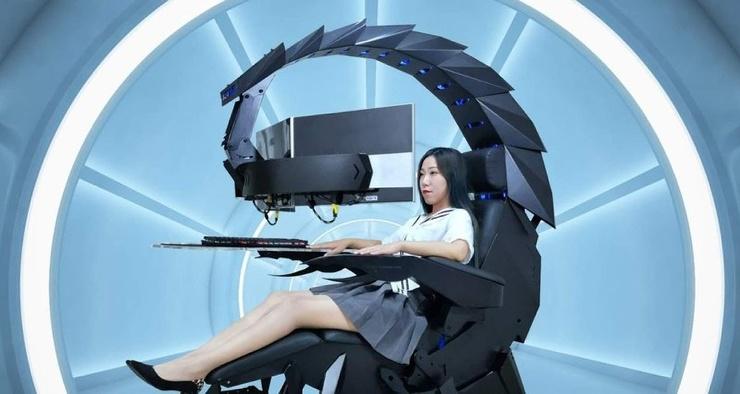 Китайская компания показала жуткое игровое кресло-скорпион