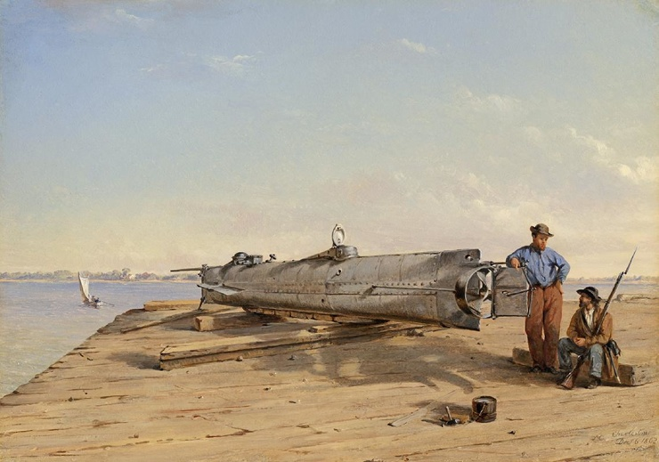 Ханли как конфедераты построили первую в мире успешную подводную лодку