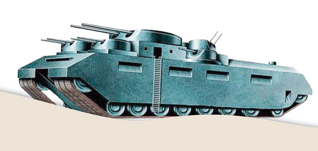 Самые уродливые танки, созданные за всю историю вооружений. Часть II (12 фото)
