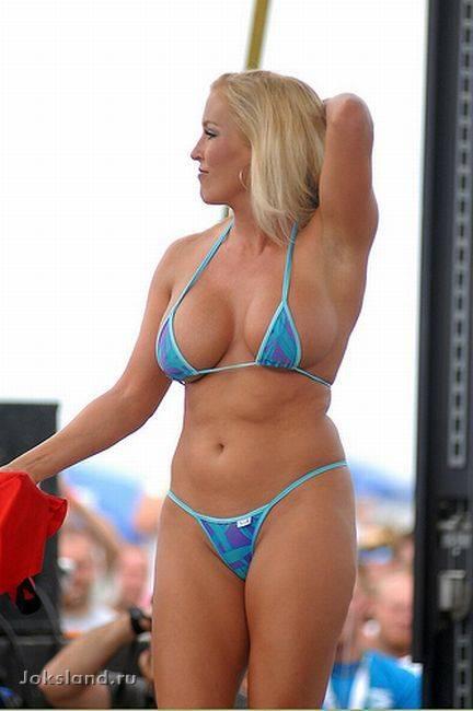 String Bikini Milf
