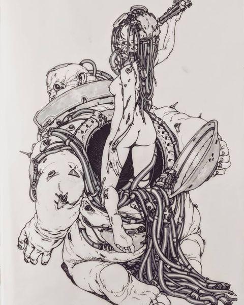 Боги, монстры и роботы-мутанты графика Николая Георгиева (42 фото)