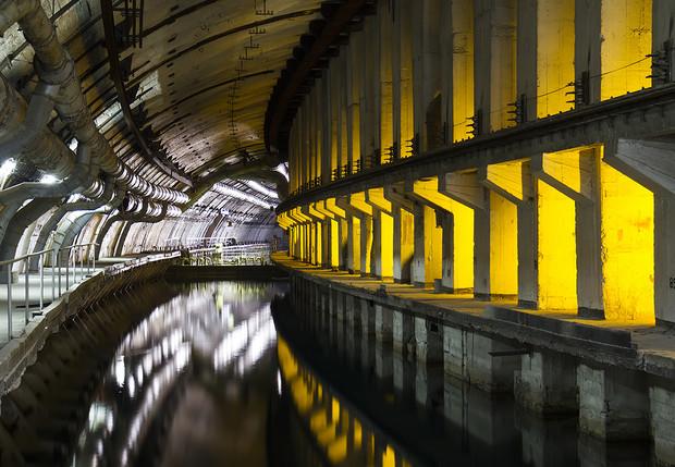 Советский подземный бункер для подводных лодок
