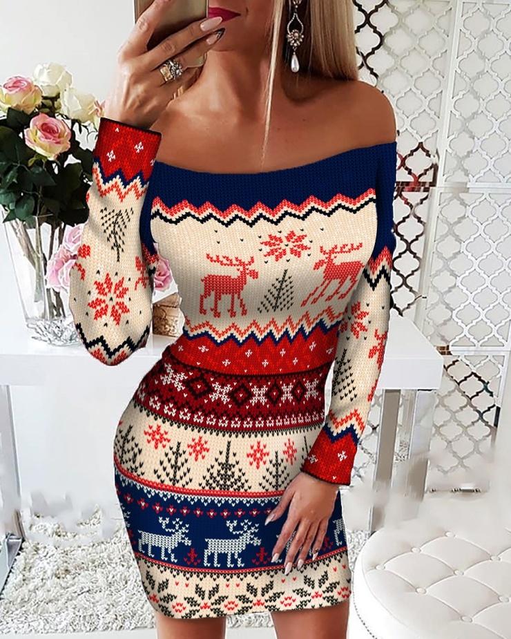 Последний писк моды веселые наряды с Рождественским принтом