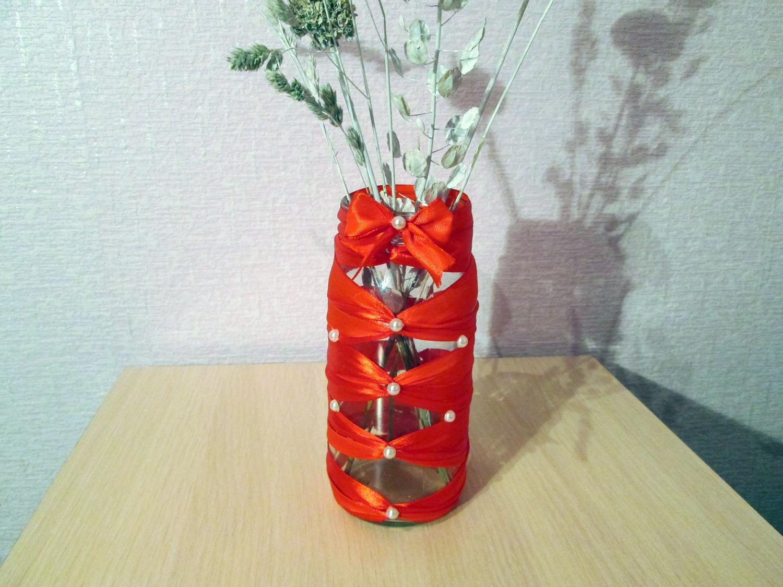 Своими руками вазу из банки