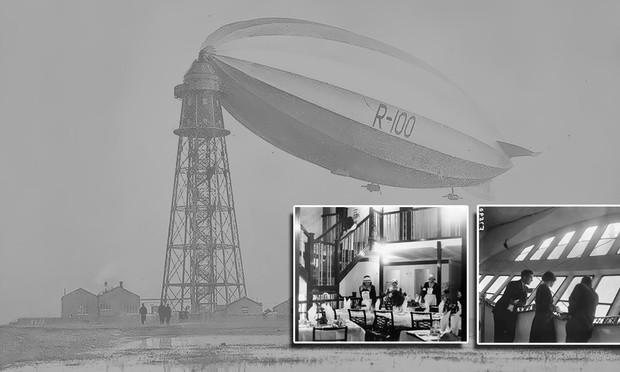Как выглядел изнутри роскошный дирижабль 1929 года (16 фото)