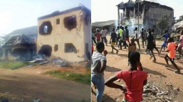 В Нигерии разгневанная толпа сожгла дом пастора  его обвиняют в похищении пенисов у местных мужчин