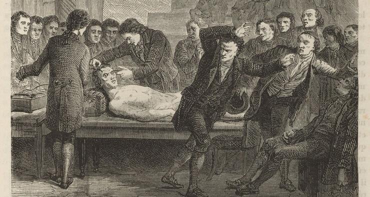 История о том, как в начале XIX века геолог пытался воскресить казненного с помощью электричества