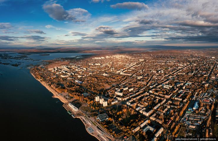 Комсомольск-на-Амуре с высоты  промышленная столица Дальнего Востока