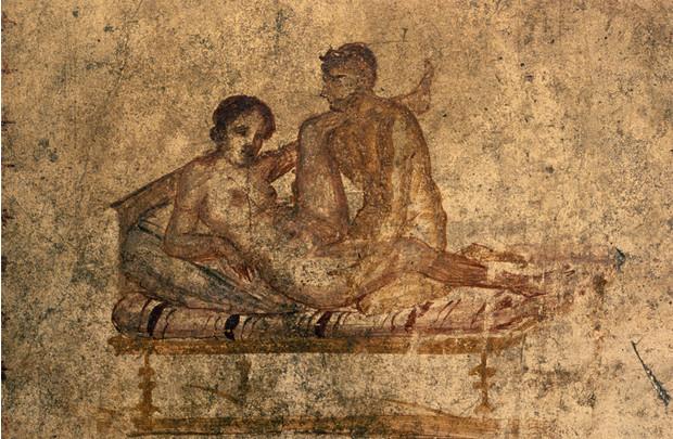 Эротические фрески из Помпеи а римляне в этом знали толк!