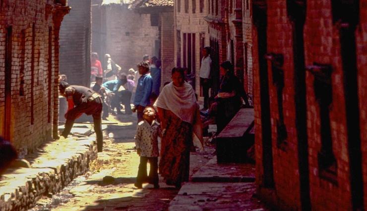 Живое средневековье потрясающие фото Непала 1976 года