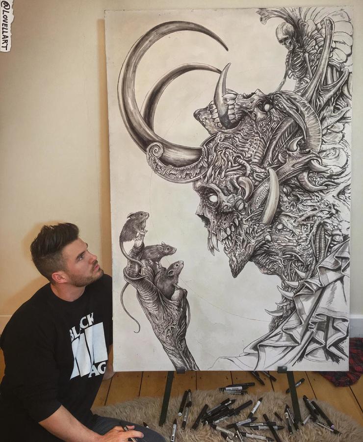 Ужасы и фэнтези научно-фантастические рисунки Кристофера Ловелла