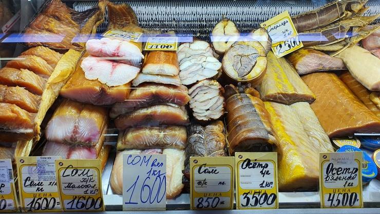 Рыбный рынок в Астрахани  фото  видео