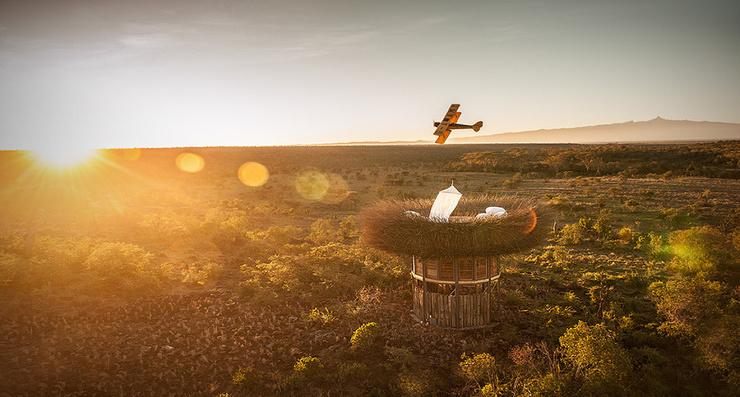 В Африке открылся уникальный отель в виде гигантского птичьего гнезда