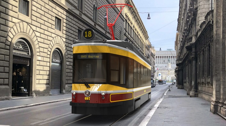 Фото Туристический ретро-трамвай в Екатеринбурге