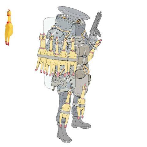 Боевые мехи будущего (и немного роботов-мусорщиков) арт Шена Лэма (38 фото)