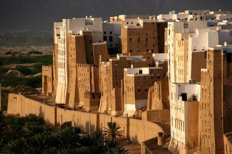 Шибам  реальный древний город глиняных небоскребов