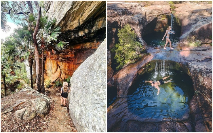 Впечатляющий оазис с бирюзовой водой под водопадом в Австралии (26 фото)