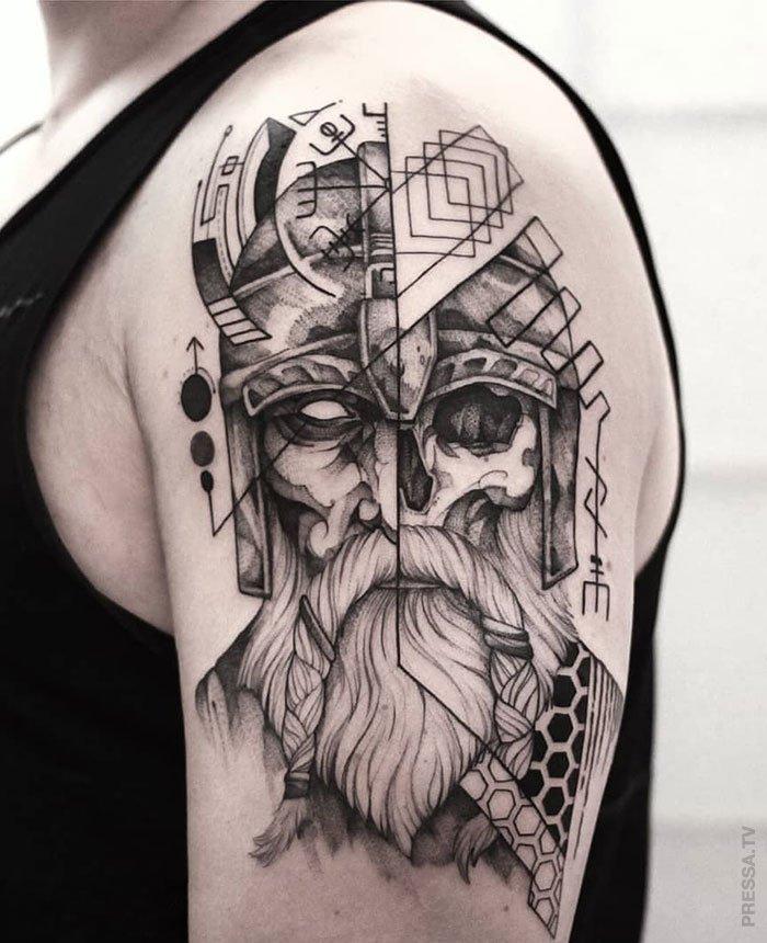 Татуировки на тему викингов (29 фото)