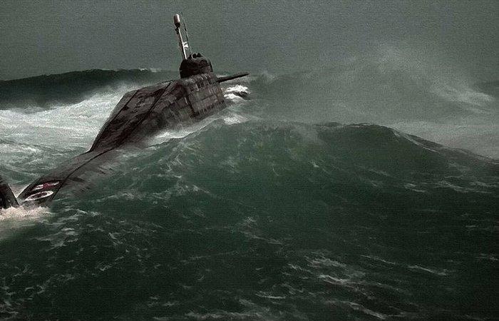 Как глубоко должна находиться подводная лодка, чтобы укрыться от шторма