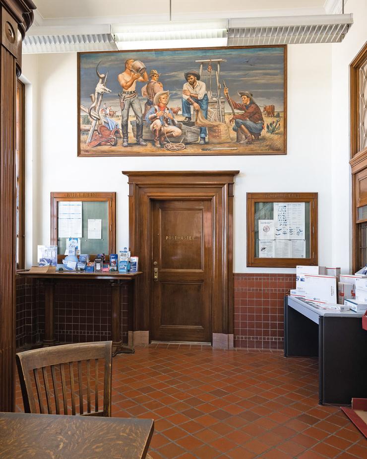 Как выглядят почтовые отделения в США, украшенные фресками во времена Великой депрессии. Фотоистория