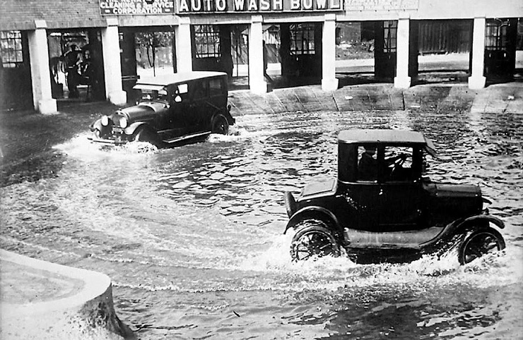 Как выглядели ванны для мойки авто в 1920-х годах