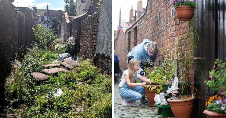 Соседи объединились, решив убрать улочку, которая много лет была заброшена