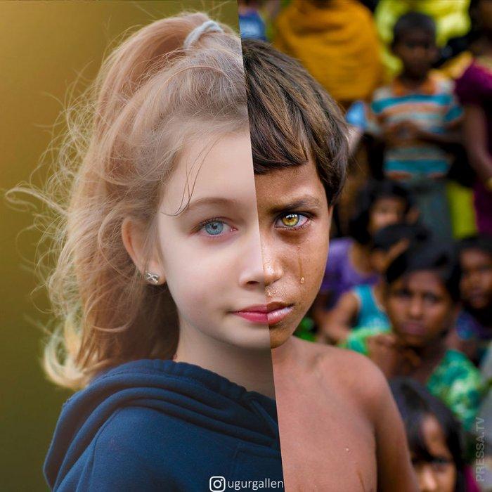 Контраст между мирами (31 фото)