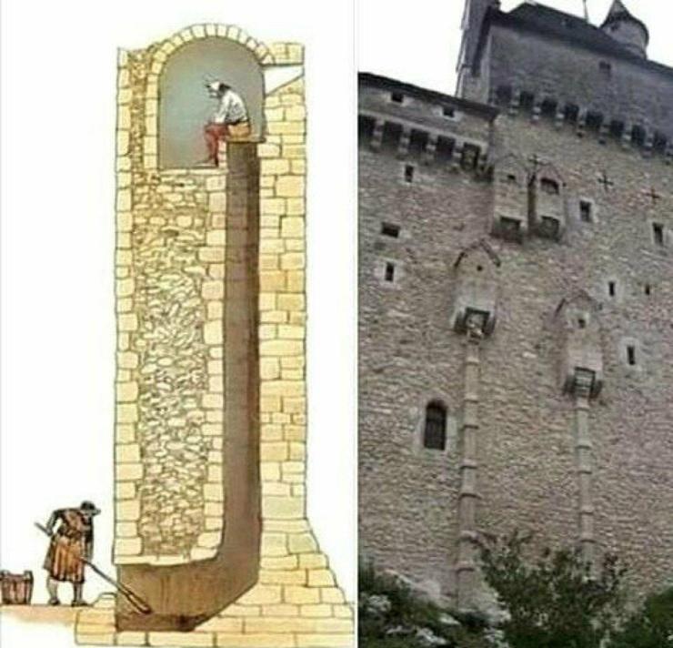 Какими были средневековые туалеты для лордов  с подтиркой в виде мха и прогрессивным смывом