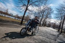 В Екатеринбурге сделали приставку, которая превращает инвалидную коляску в байк