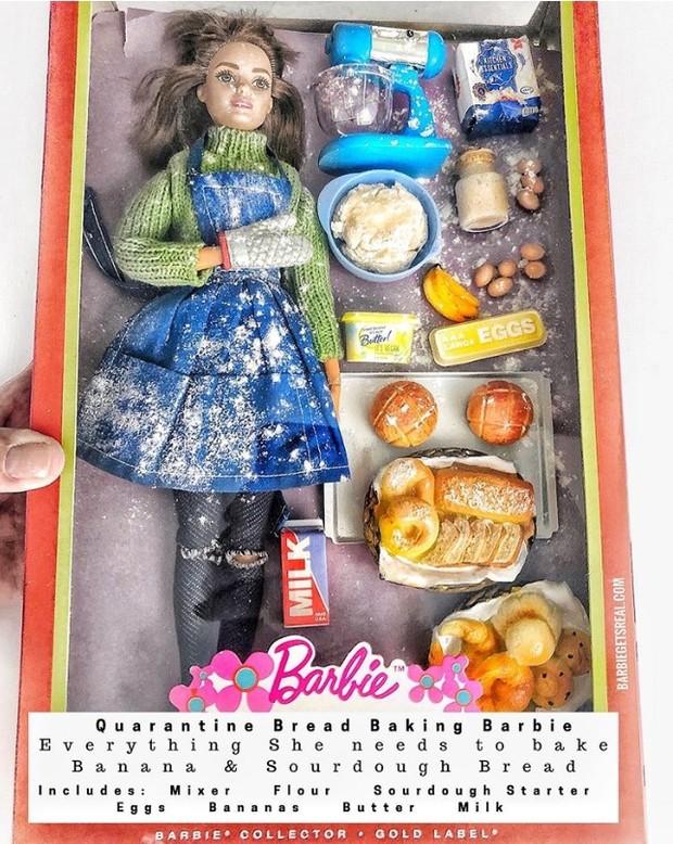 Художница создала реалистичную серию кукол Барби на карантине (7 фото)