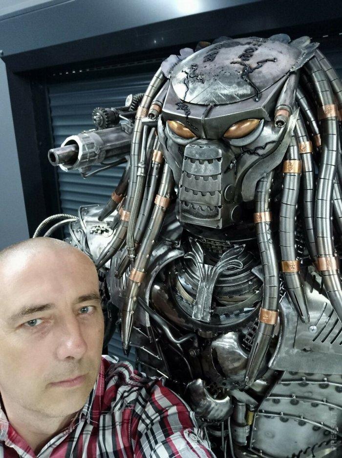 Потрясающие скульптуры героев кино из металлолома