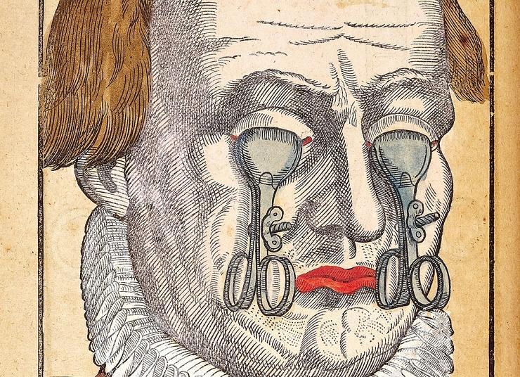 Жутковатая находка сюрреалистические иллюстрации из учебника по офтальмологии XVI века (8 фото)