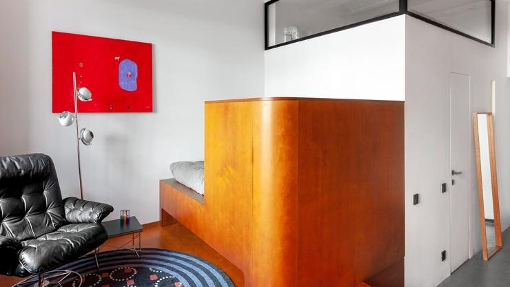 Маленькая квартира в традициях модернизма в Москве  27 кв. метров (18 фото)