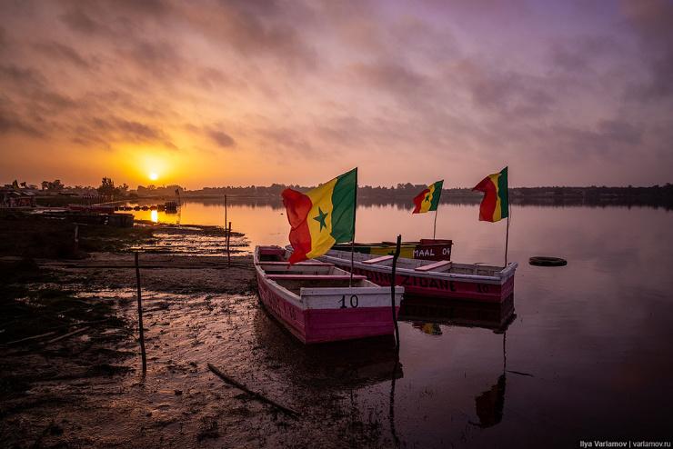 Деревни Сенегала и невероятный закат на озере Ретба  фото